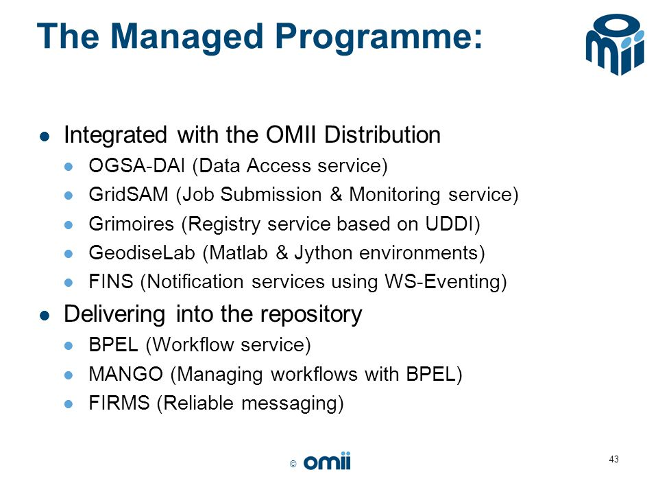 The Managed Programme: