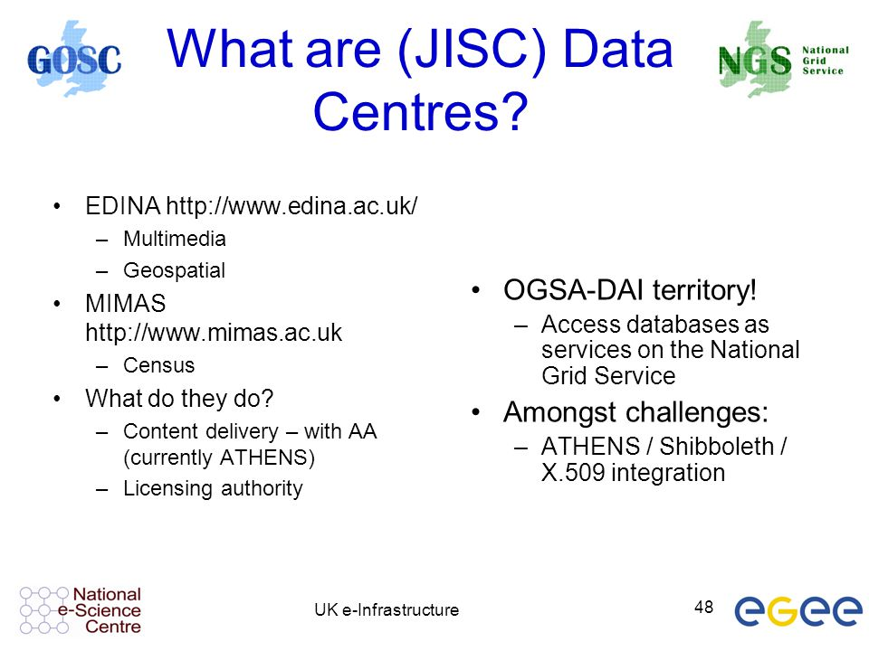 What are (JISC) Data Centres