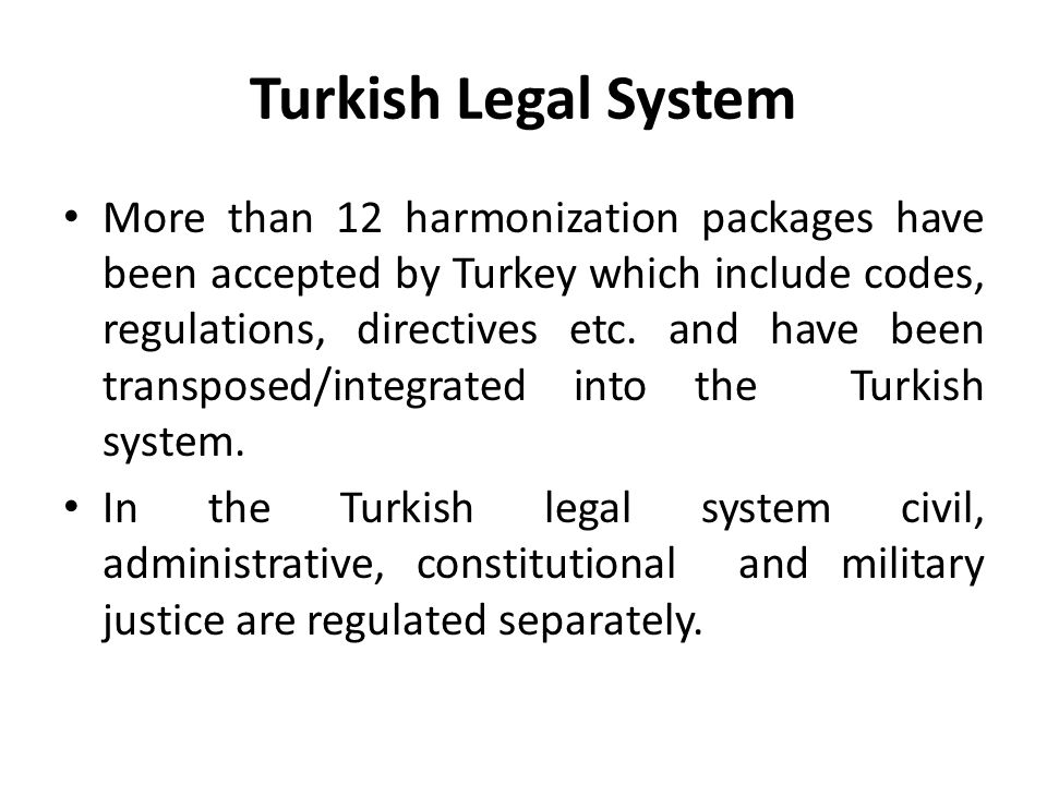 Turkish Legal System