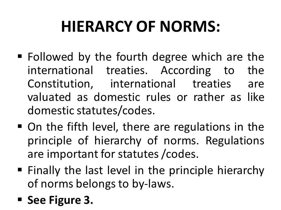 HIERARCY OF NORMS: