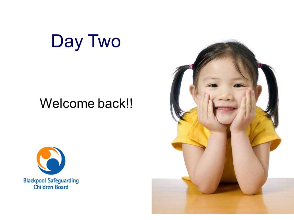 Day Two Welcome back!! Welcome back Training aim for today: