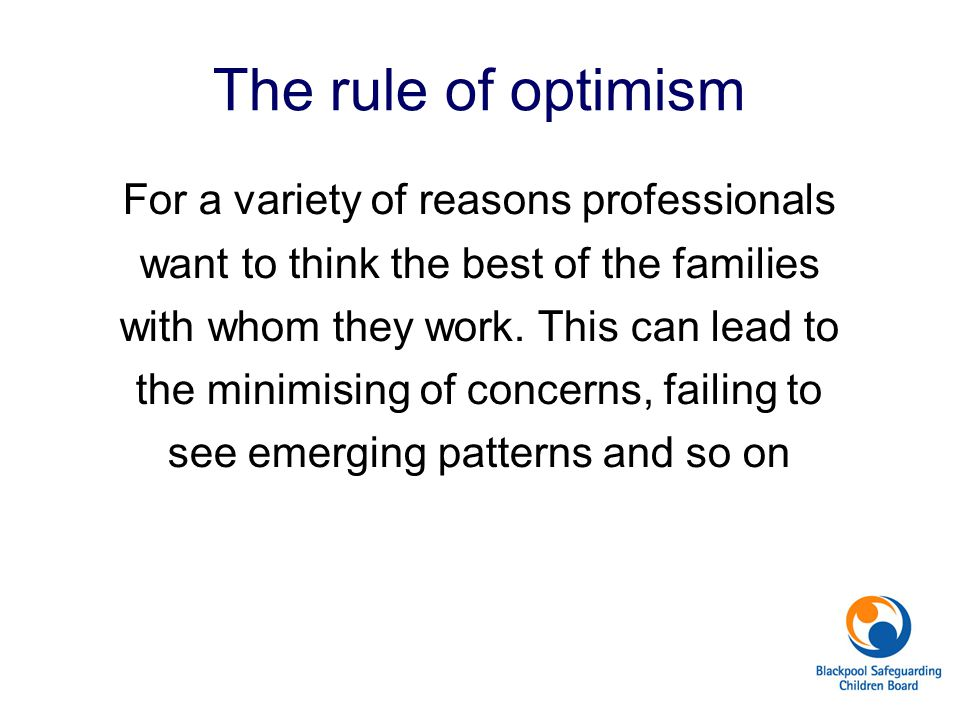 The rule of optimism