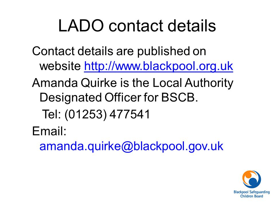 LADO contact details