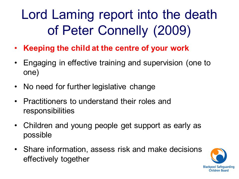 Lord Laming report into the death of Peter Connelly (2009)