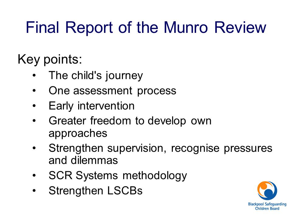 Final Report of the Munro Review