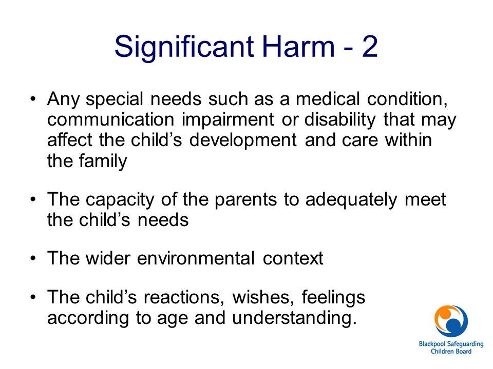 Significant Harm - 2