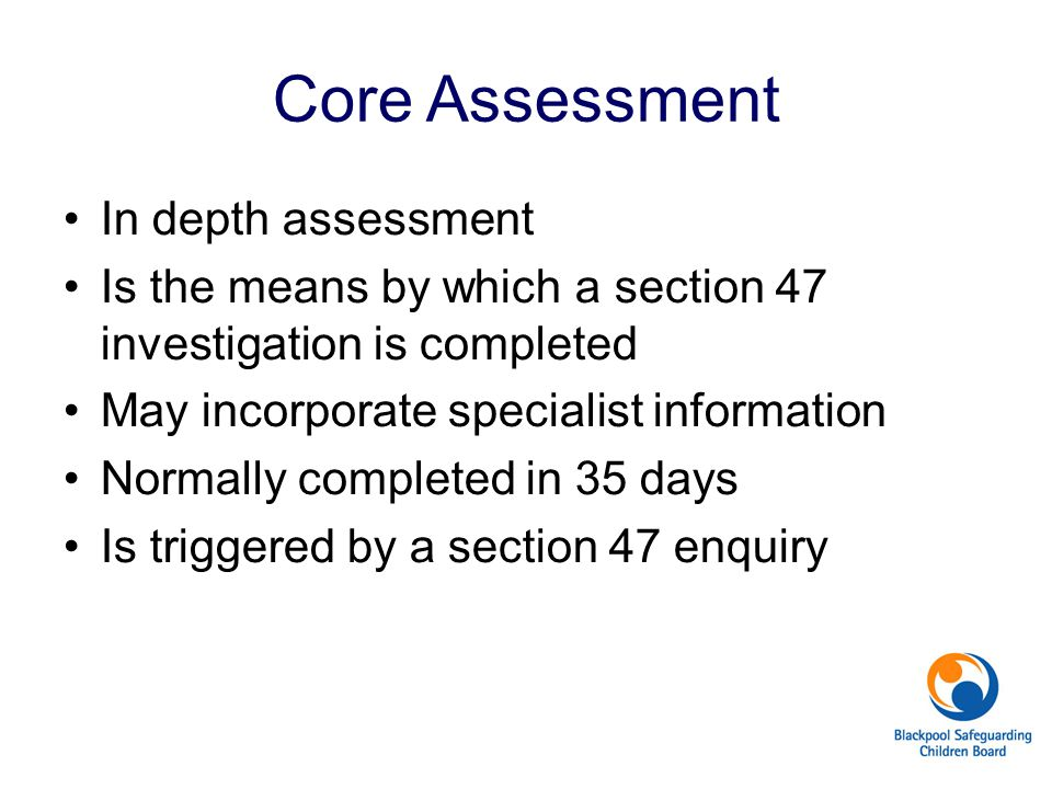 Core Assessment In depth assessment