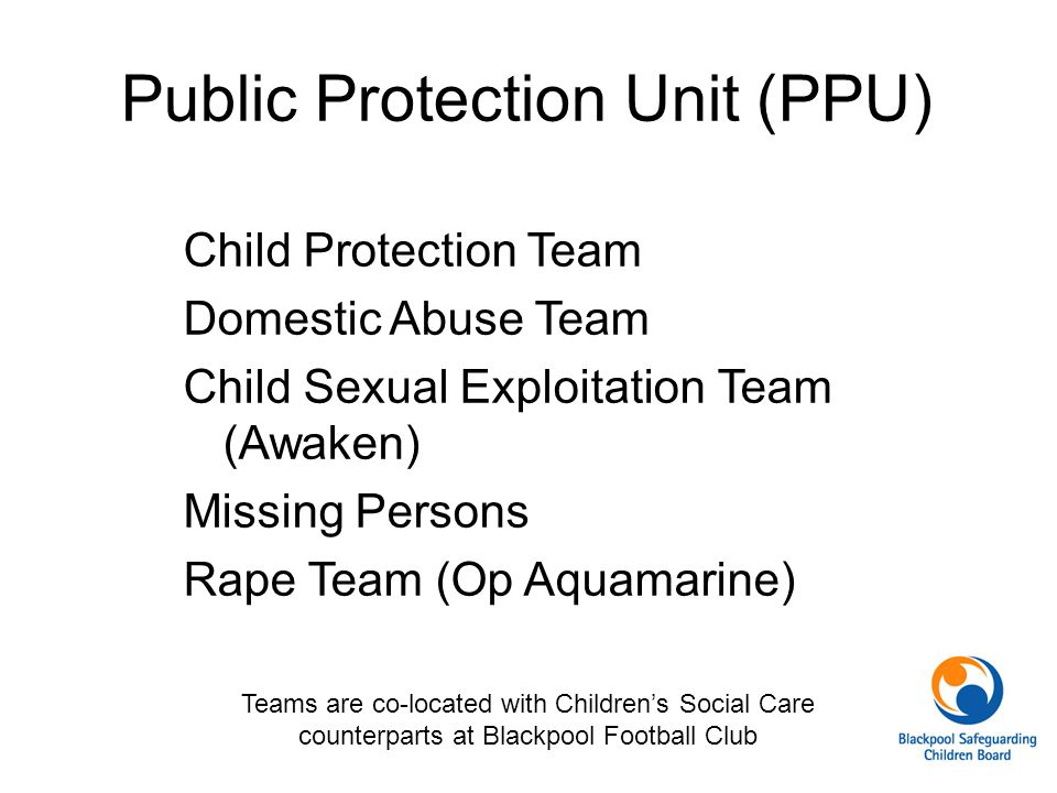 Public Protection Unit (PPU)