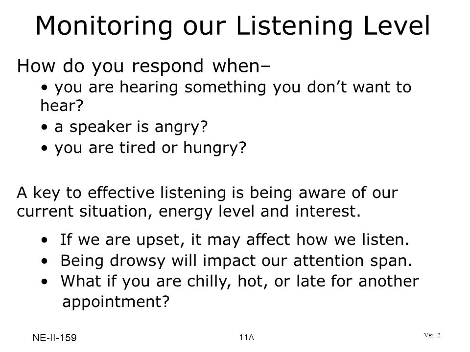 Monitoring our Listening Level