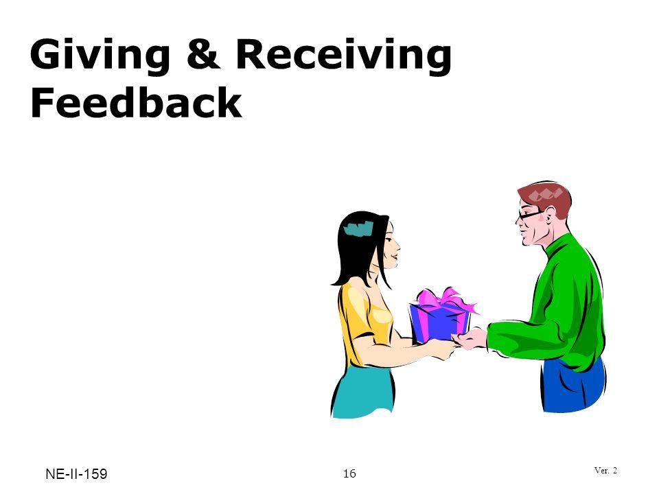 Giving & Receiving Feedback