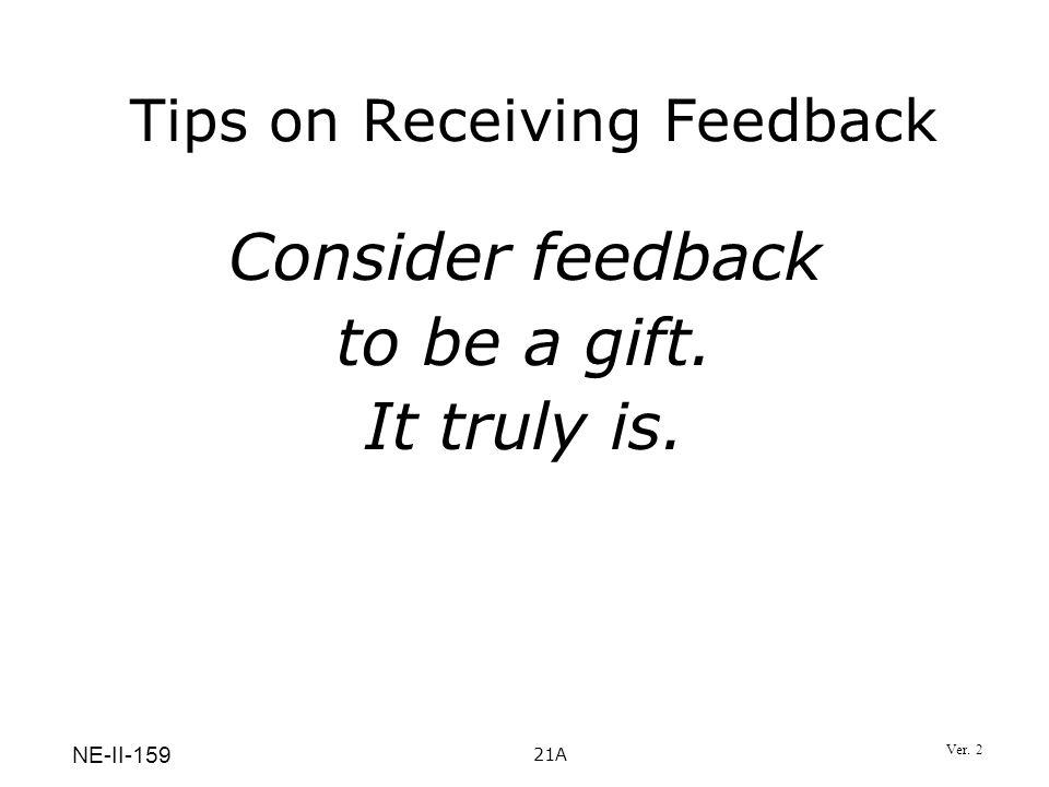 Tips on Receiving Feedback