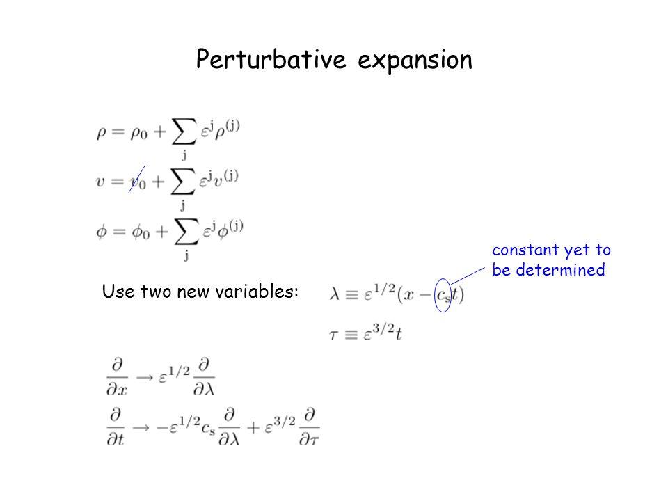 Perturbative expansion