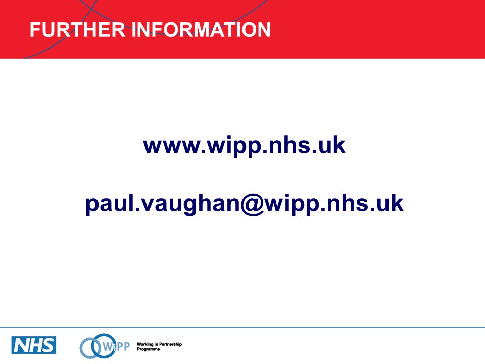 www.wipp.nhs.uk paul.vaughan@wipp.nhs.uk
