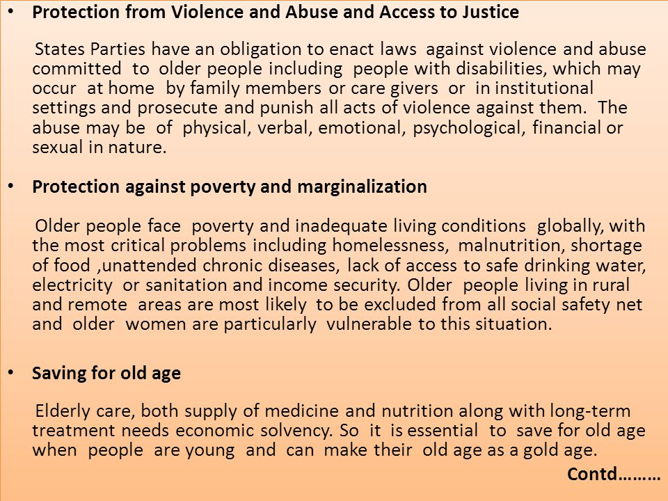 Protection from Violence and Abuse and Access to Justice