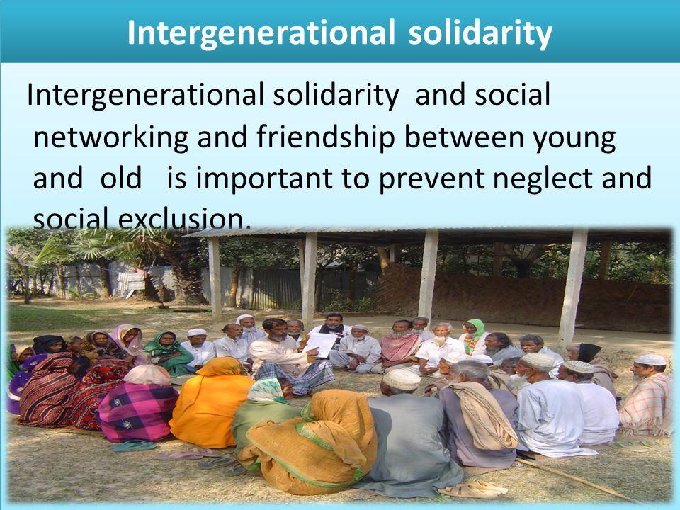 Intergenerational solidarity