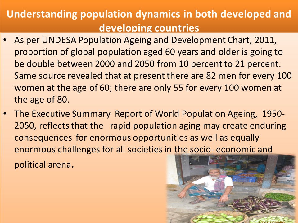 Understanding population dynamics in both developed and developing countries