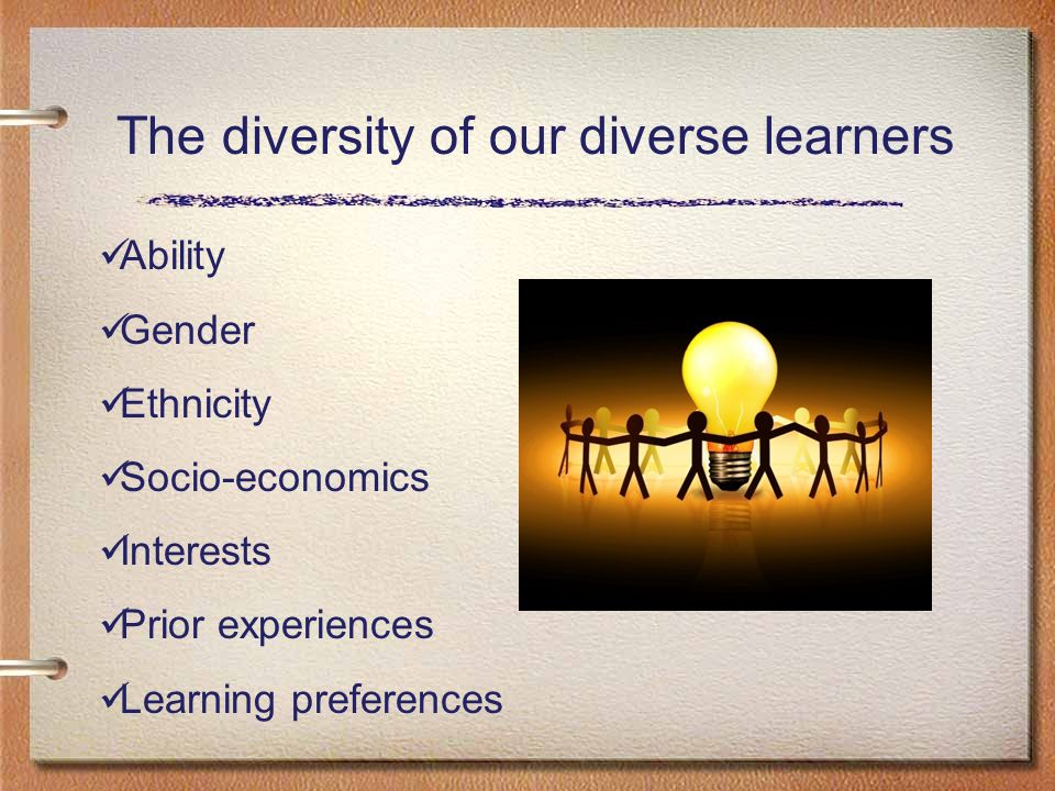 The diversity of our diverse learners