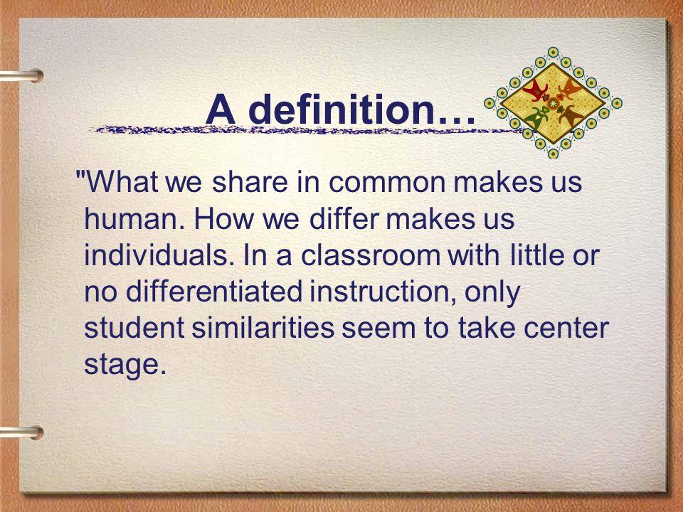 A definition…