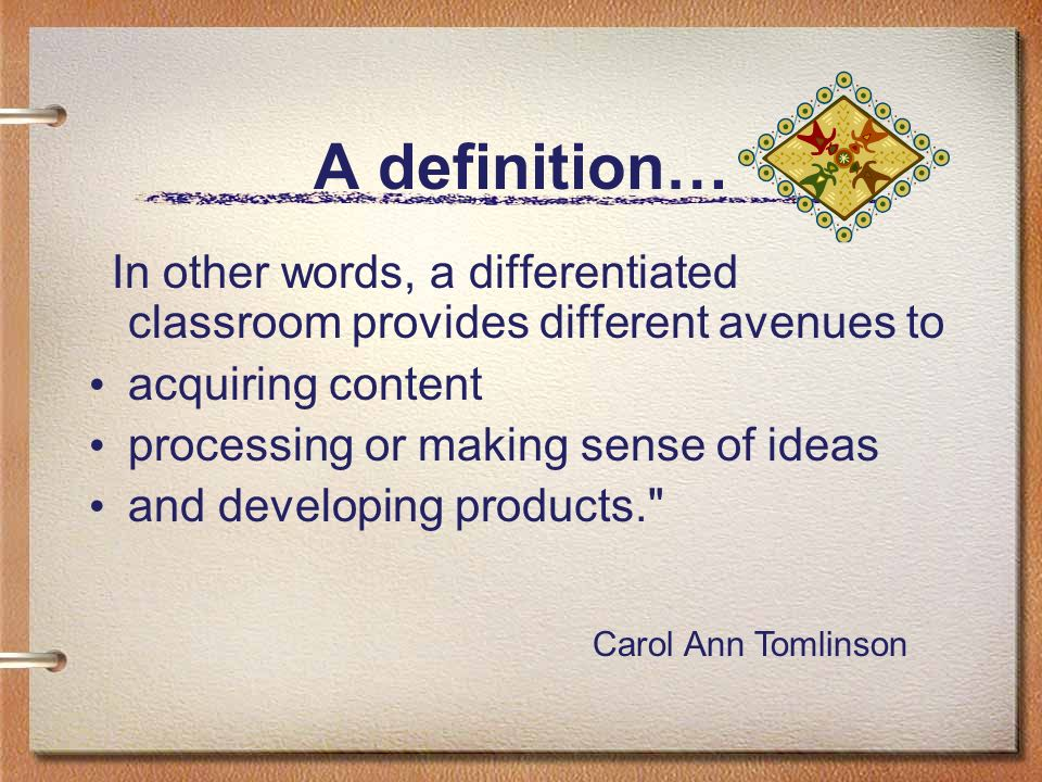 A definition… acquiring content processing or making sense of ideas