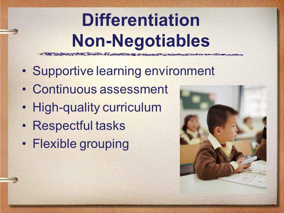 Differentiation Non-Negotiables