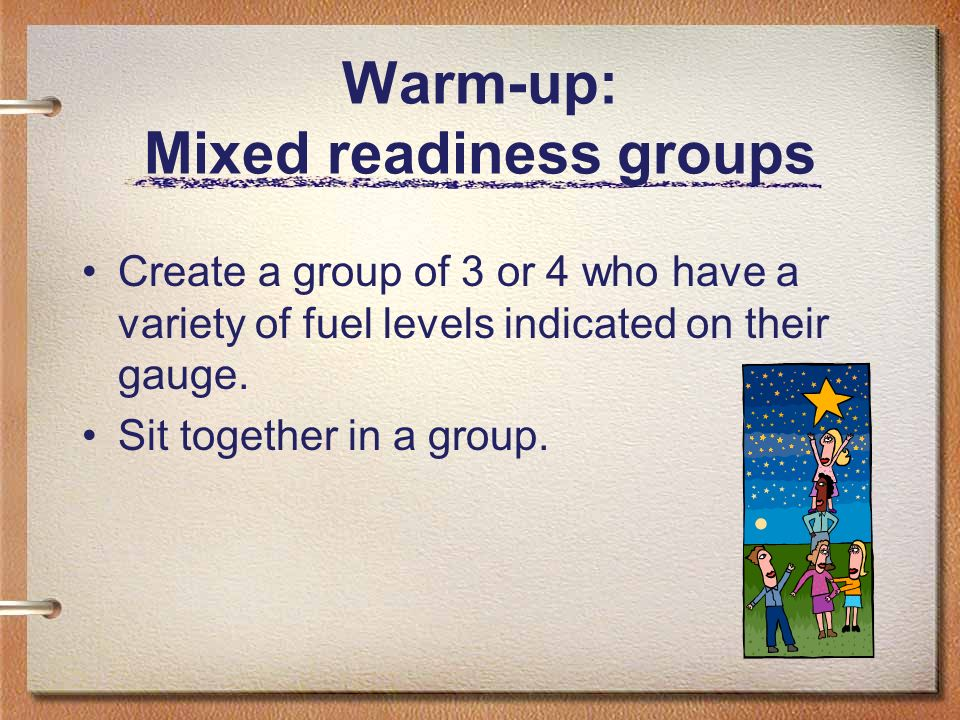 Warm-up: Mixed readiness groups