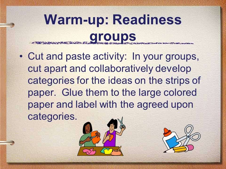 Warm-up: Readiness groups