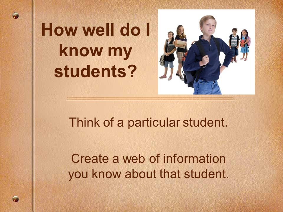 How well do I know my students
