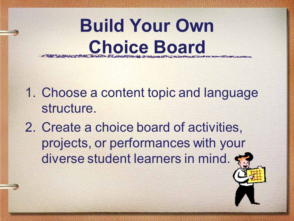 Build Your Own Choice Board