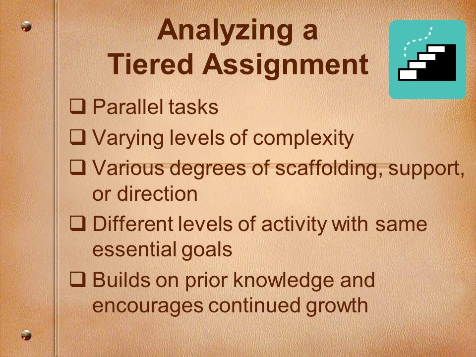 Analyzing a Tiered Assignment
