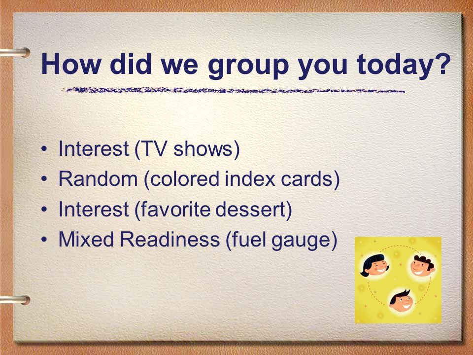 How did we group you today