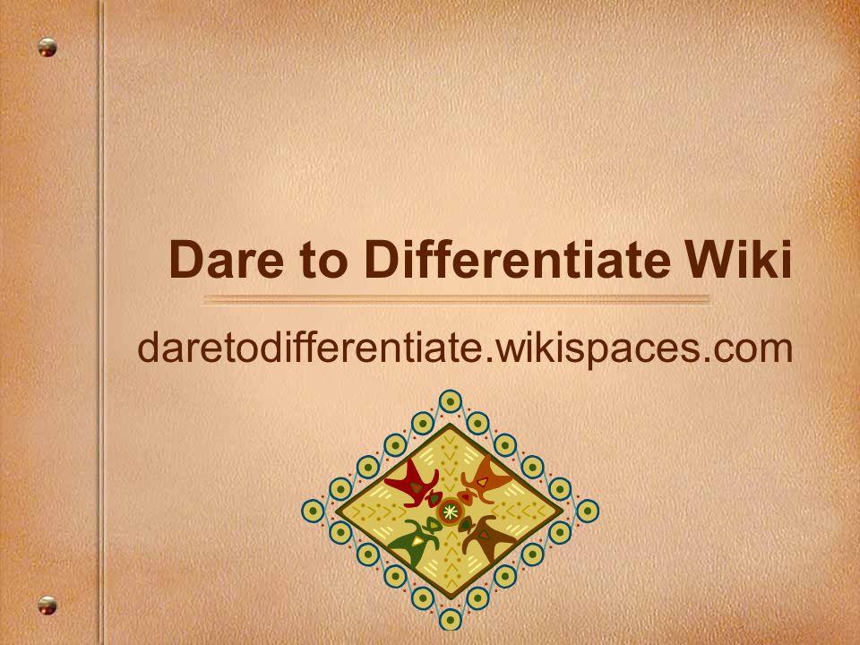 Dare to Differentiate Wiki