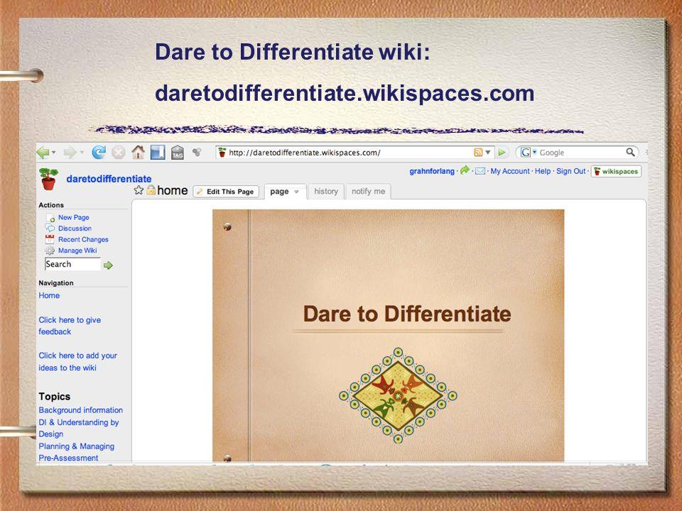 Dare to Differentiate wiki: