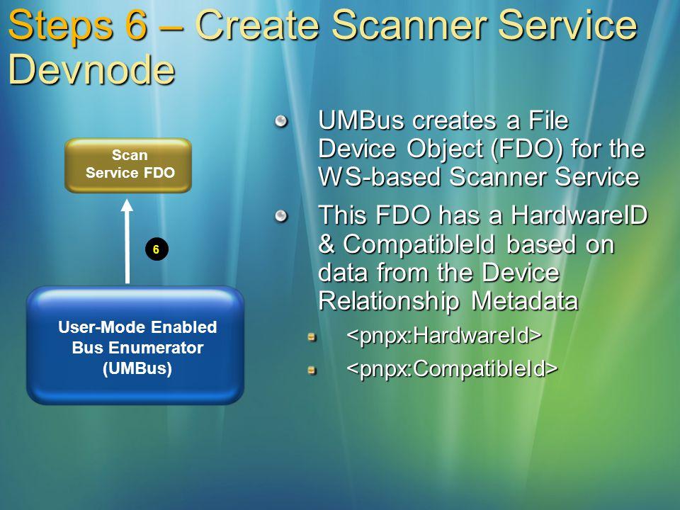 Steps 6 – Create Scanner Service Devnode