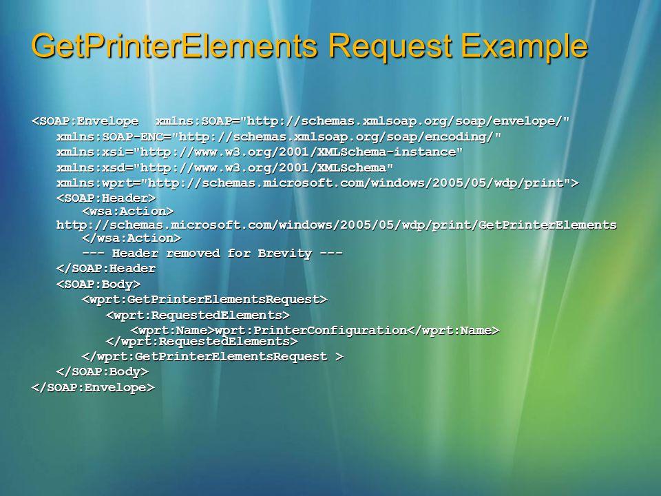 GetPrinterElements Request Example