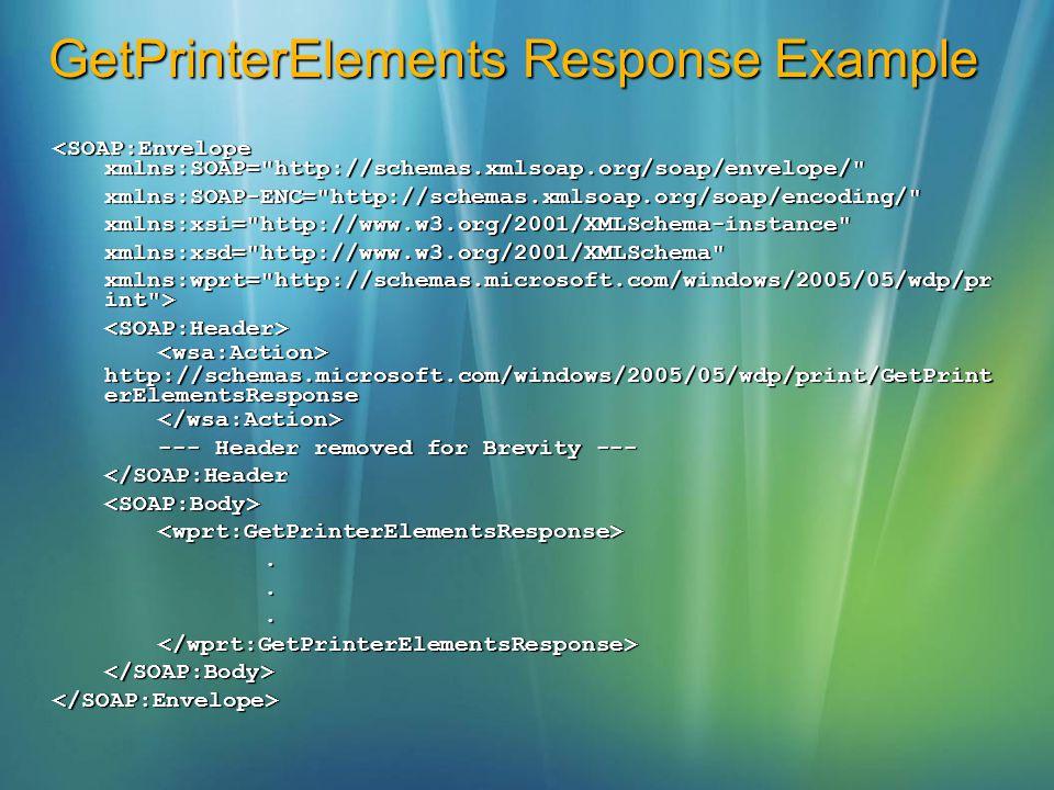 GetPrinterElements Response Example