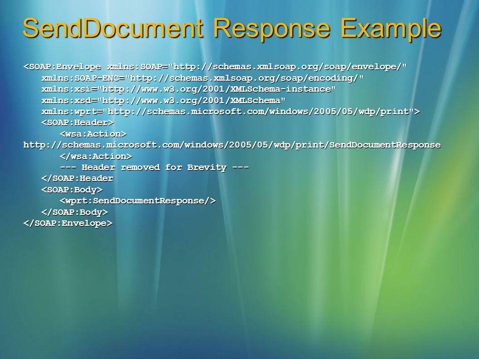 SendDocument Response Example