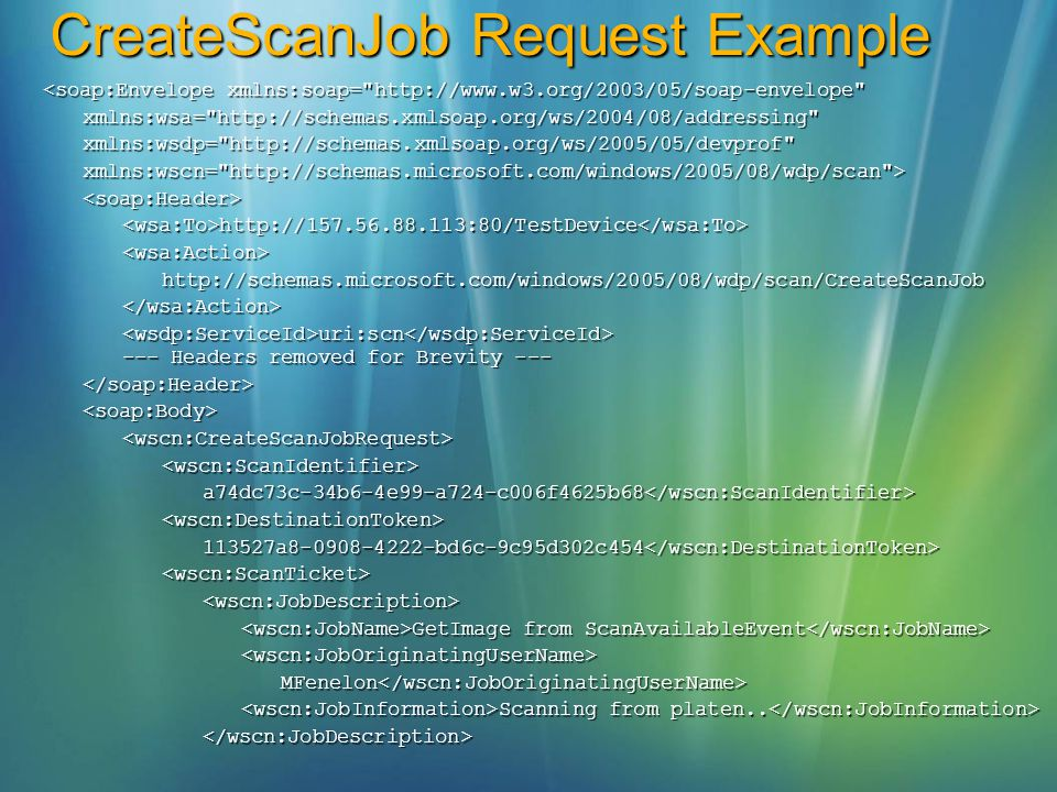 CreateScanJob Request Example