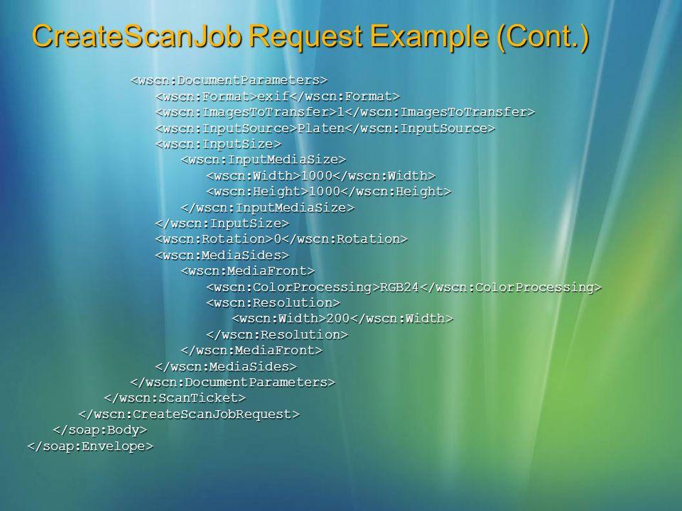 CreateScanJob Request Example (Cont.)