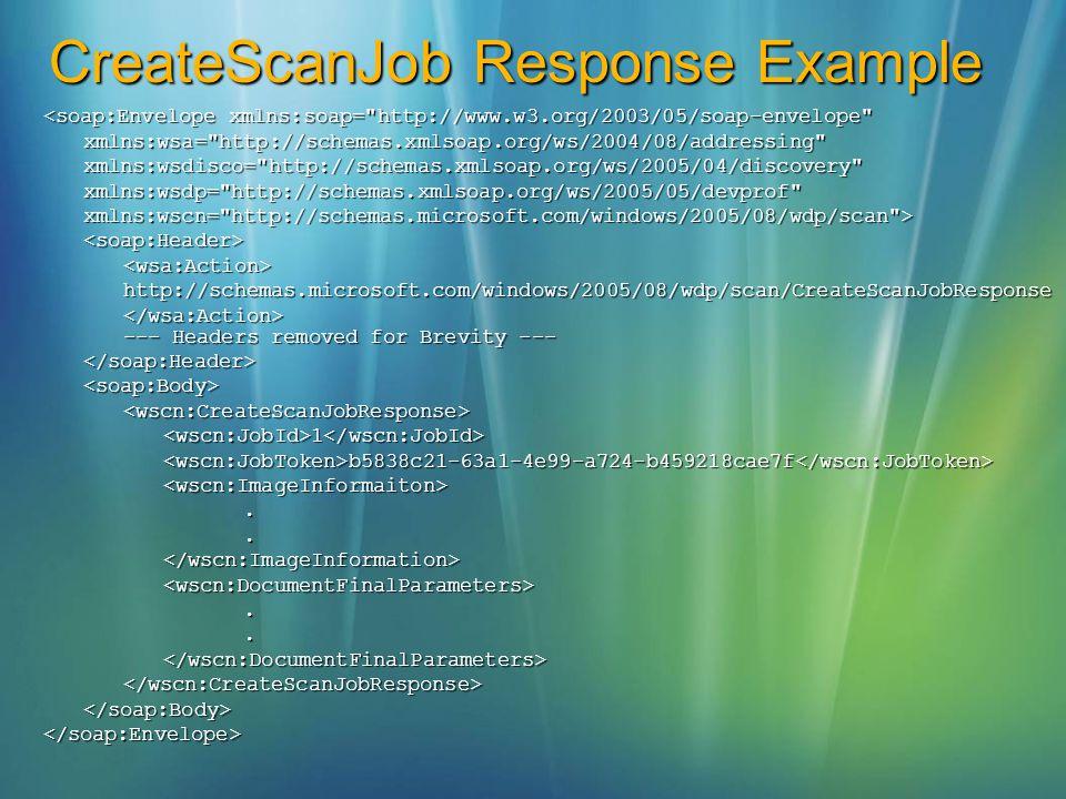 CreateScanJob Response Example