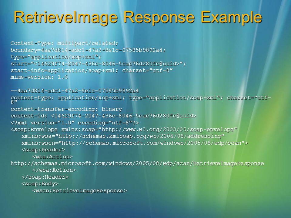 RetrieveImage Response Example