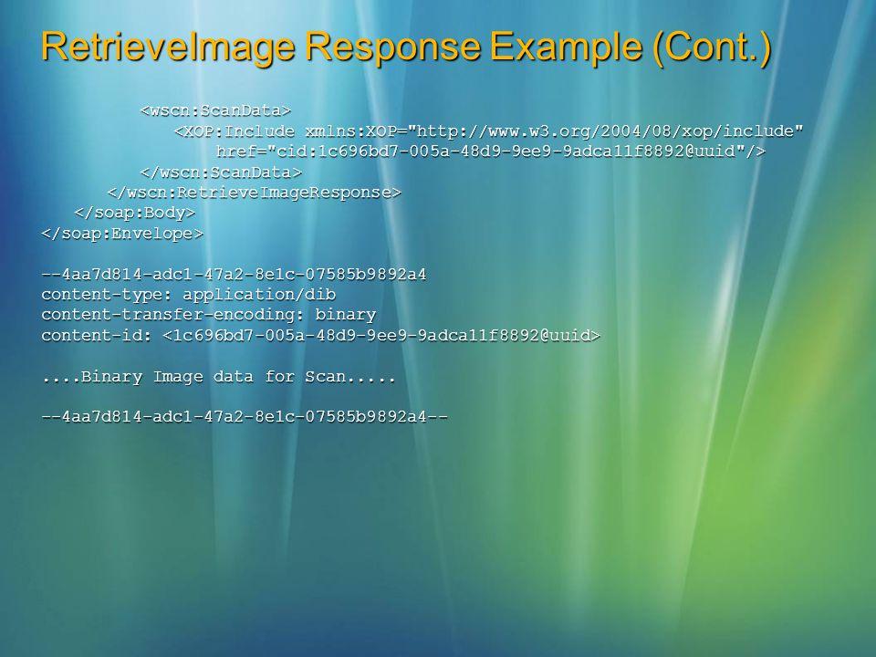 RetrieveImage Response Example (Cont.)