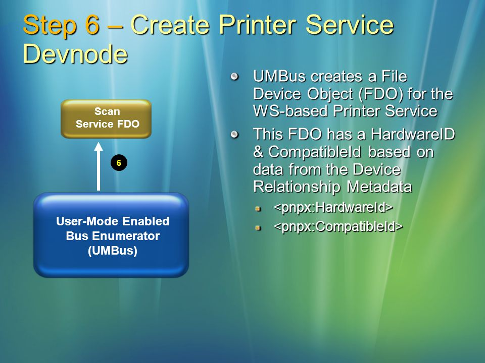 Step 6 – Create Printer Service Devnode
