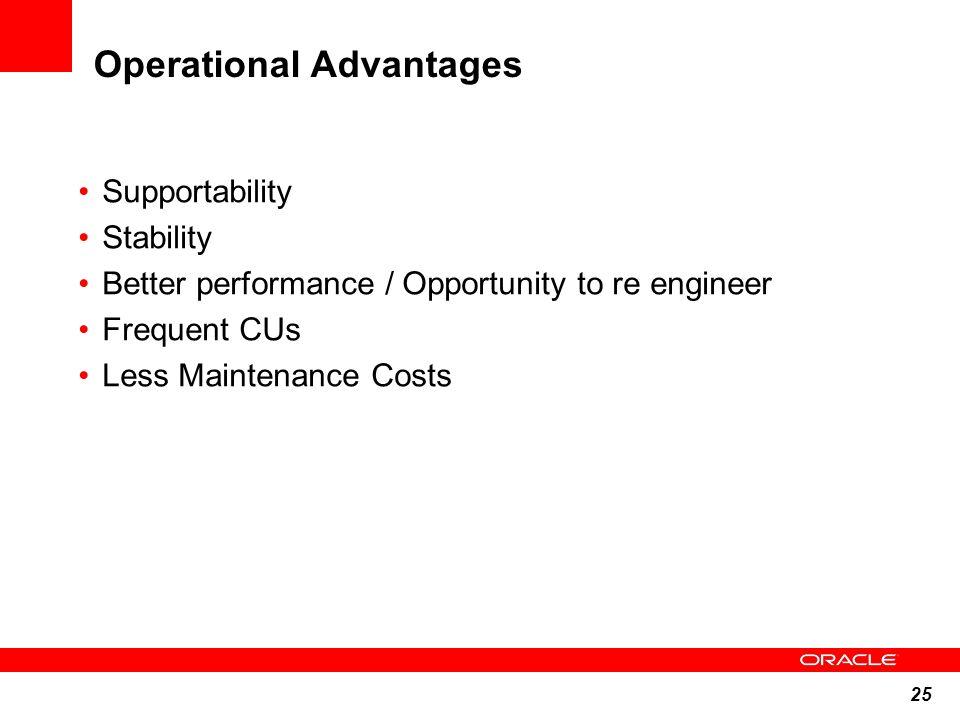 Operational Advantages
