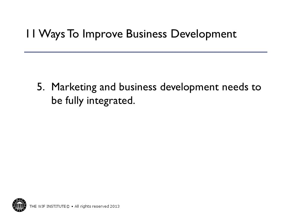 11 Ways To Improve Business Development