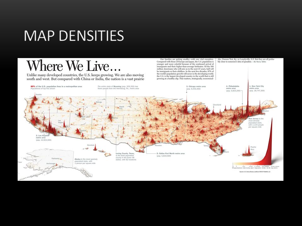 Map Densities