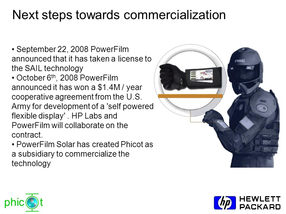 Next steps towards commercialization