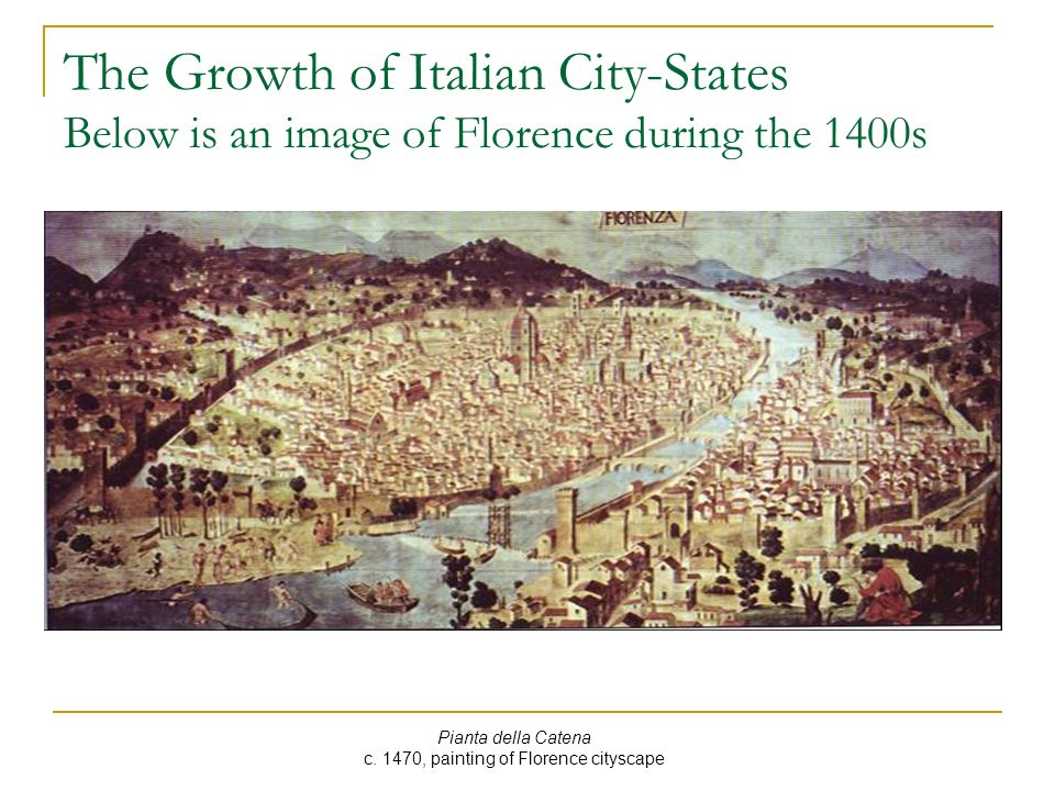 c. 1470, painting of Florence cityscape