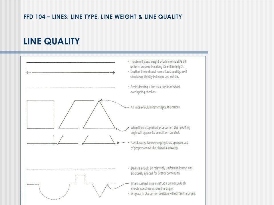 FFD 104 – LINES: LINE TYPE, LINE WEIGHT & LINE QUALITY