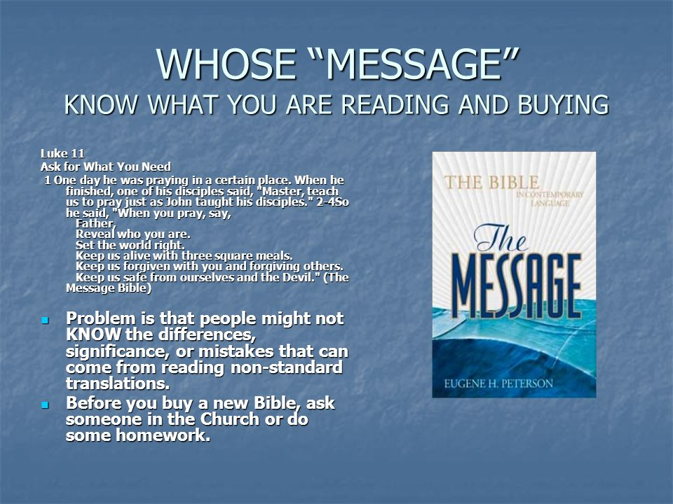 WHOSE MESSAGE KNOW WHAT YOU ARE READING AND BUYING