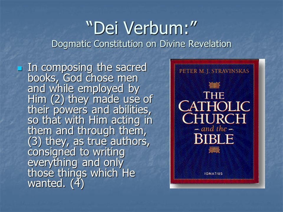 Dei Verbum: Dogmatic Constitution on Divine Revelation